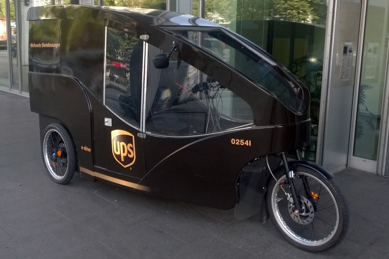 UPS Lastenrad in Hamburg 2016